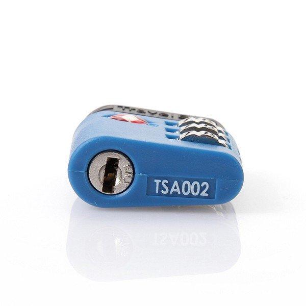 TravelBlue TB037 bezpečnostní TSA kódový zámek na zavazadla, modrý