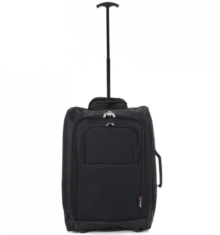 5 Cities T-830 S palubní kufr na 2 kolečkách 55 cm 1,65 kg černá/modrá