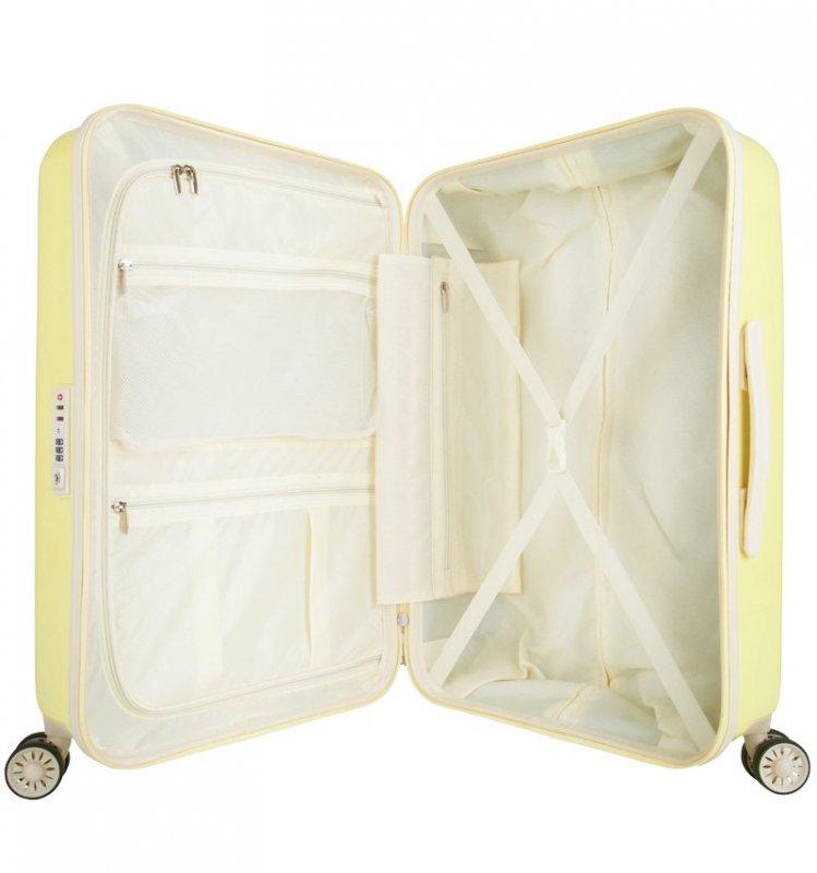 SUITSUIT Fabulous Fifties M Mango Cream cestovní kufr na 4 kolečkách TSA 67 cm