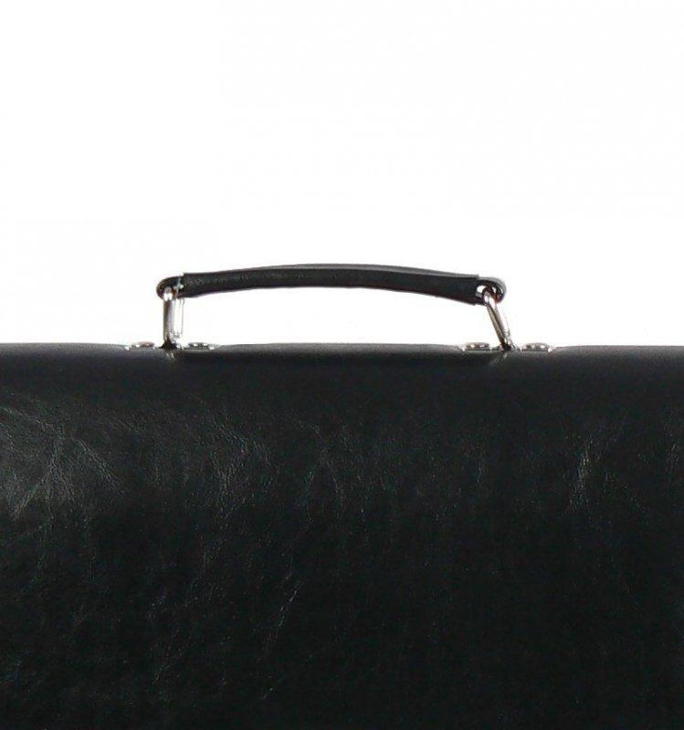 Aktovka REAbags 7416 - černá/nikl