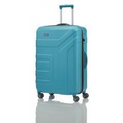 Travelite Vector 4w L cestovní kufr TSA 77 cm 103 l Turquoise