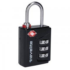 Travelite 26-01 Black bezpečnostní kódový TSA zámek na zavazadla