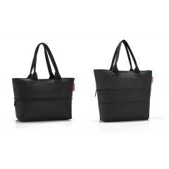 Reisenthel Shopper e1 elegantní rozšiřitelná kabelka 50 cm 12-18 l Black