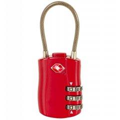 ROCK TA-0004 TSA lankový kódový zámok na kufor - červený