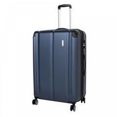 Travelite City 4w L cestovní kufr TSA 77 cm 113/124 l Navy