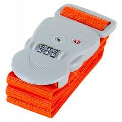 Bezpečnostní popruh na kufr s TSA kódovým zámkem ROCK TA-0011 - oranžová