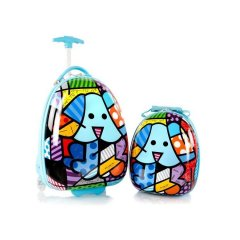 Heys Britto for Kids Blue Dog detská súprava kufra 13,4 l a batoha 4,8 l