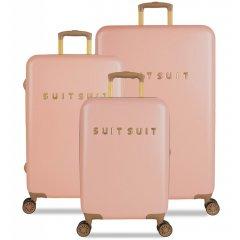 SUITSUIT Fab Seventies Coral Cloud sada 3 cestovních kufrů TSA 77/67/55 cm