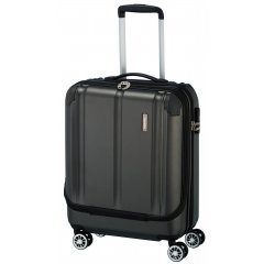 Travelite City 4w S business palubní kufr 55x40x20 cm 40 l Anthracite