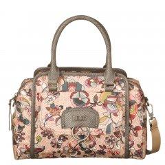 LiLiÓ Biba S Handbag Nougat malá květovaná kabelka 28x10x22 cm