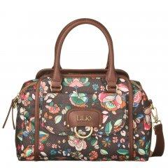 LiLiÓ Biba S Handbag Chestnut malá květovaná kabelka 28x10x22 cm