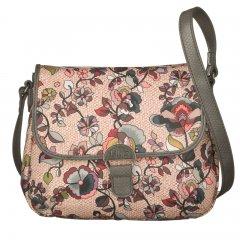 LiLiÓ Biba S Shoulder Bag Nougat malá oblouková květovaná kabelka 24x7x19 cm