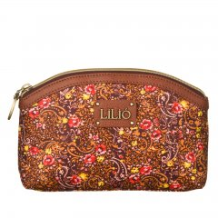 LiLiÓ Ditsy Cosmetic Bag Bright Sienna květovaná kosmetická taštička 19x7x13,5 cm