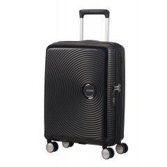 American Tourister Soundbox S Bass Black rozšiřitelný palubní kufr TSA 55 cm