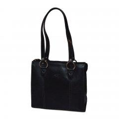 Katana 82130 Noir dámská kožená kabelka přes rameno, černá