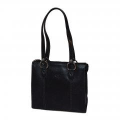 Katana 82130 dámská kožená kabelka 26 cm Noir