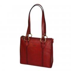Katana 82130 Rouge dámská kožená kabelka přes rameno, červená