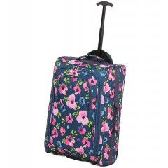 5 Cities T-830 2w palubní kufr 55 cm Floral