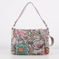 LiLiÓ Urban Peony M Flat Shoulder Bag kabelka 32x21x4 cm Café au Lait