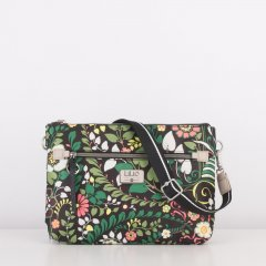 LiLiÓ Morris Garden M Flat Shoulder Bag kabelka 30x21x5 cm Peacock Green