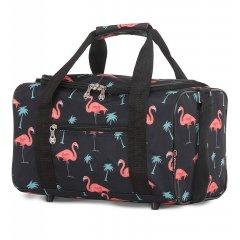 5 Cities 611 palubní cestovní taška Ryanair 40x20x25 cm Flamingo
