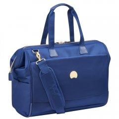 """Delsey Montrouge Reporter stylová palubní taška 15,6"""" modrá"""