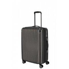 Titan Barbara Glint M dámský cestovní kufr TSA 67 cm 68-78 l Anthracite Metallic
