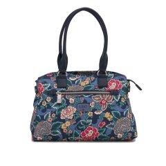 LiLiÓ Winter Poppy M Carry All květovaná kabelka 36 cm True Blue