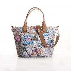 LiLiÓ Folkloric Fun Handbag elegantní květovaná kabelka 28 cm Whipped Cream