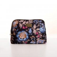 LiLiÓ Folkloric Fun M Toiletry Bag květovaná toaletní taštička 25 cm Dune