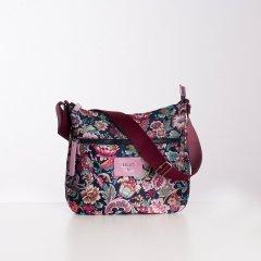 LiLiÓ Smart Flowers M Shoulder Bag květovaná kabelka 31 cm Soft Lilac