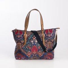 Oilily Handbag Paisley dámská kabelka 30 cm Royal Blue