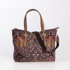 Oilily Handbag Paisley dámská kabelka 30 cm Coffee