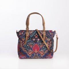 Oilily Handbag S Paisley dámská kabelka 24 cm Royal Blue