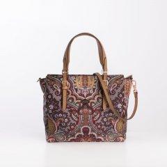 Oilily Handbag S Paisley dámská kabelka 24 cm Coffee
