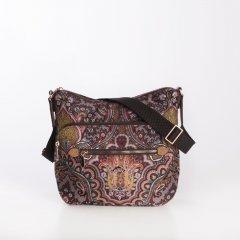 Oilily Shoulder Bag M Paisley dámská kabelka 27 cm Coffee