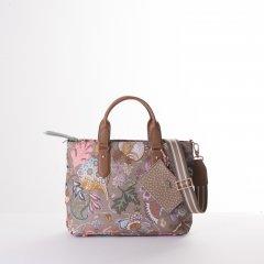 Oilily Amelie Sits Handbag květovaná kabelka 28 cm Elmwood