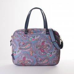 "Oilily Helena Paisley Office Bag kabelka na 14"" notebook 40 cm Adriac Blue"
