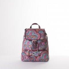 Oilily Helena Paisley City Backpack dámský městský batoh 6,3 l Port