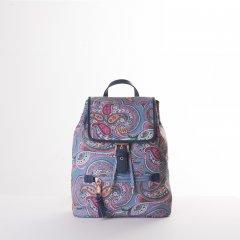 Oilily Helena Paisley City Backpack dámský městský batoh 6,3 l Adriac Blue