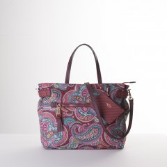 Oilily Helena Paisley Handbag květovaná kabelka 29 cm Port