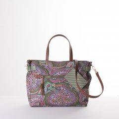 Oilily Helena Paisley Handbag květovaná kabelka 29 cm Cypres