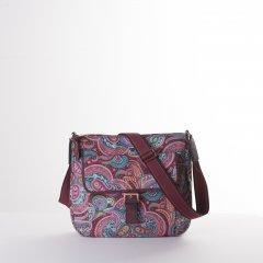 Oilily Helena Paisley M Shoulder Bag květovaná kabelka 27 cm Port