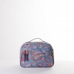 Oilily Helena Paisley L Beauty Case cestovní necesér 28 cm Adriac Blue