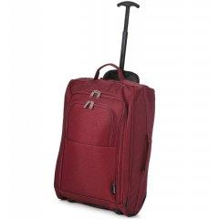 5 Cities T-830 S palubní kufr na 2 kolečkách 55 cm 1,65 kg vínový