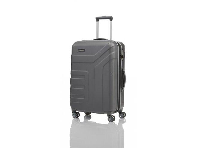 Travelite Vector 4w M cestovní kufr TSA 70 cm 79-91 l Anthracite