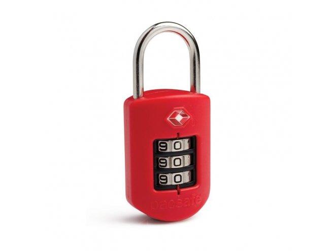 Pacsafe Prosafe 1000 Kódový TSA zámek na zavazadla, červený