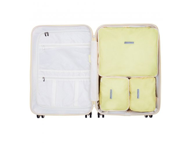 SUITSUIT Packing Cube Set Mango Cream sada organizérů do cestovních kufrů vel. M