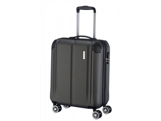 Travelite City 4w S palubní cestovní kufr 55x40x20 cm 40 l Anthracite