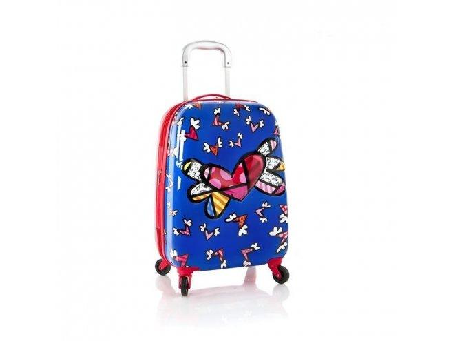 Heys Britto Tween Spinner 3D Flying Hearts detský cestovný kufor 51 cm